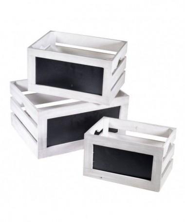 Cassette in legno - 3 pezzi