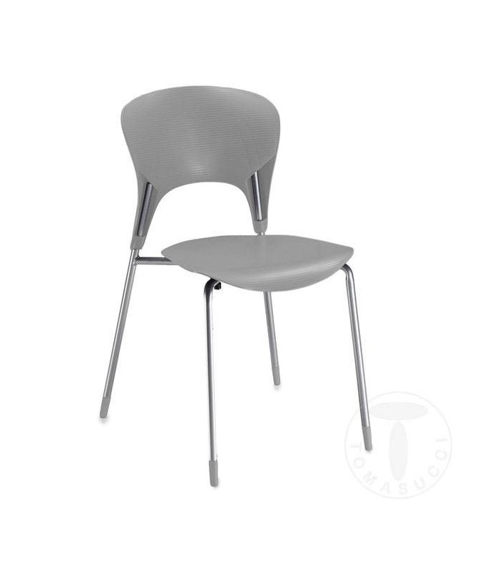 Sedia in Abs Lolli - set da 4 grigio