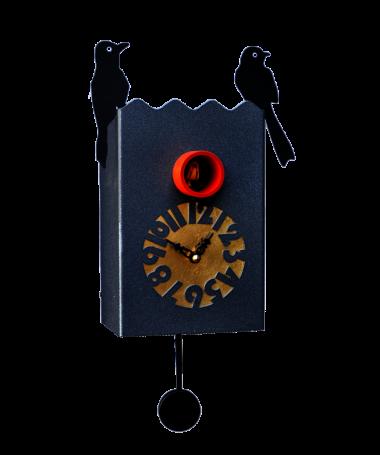 Orologio con cucù Duetto cassa in metallo laccato Made in Italy