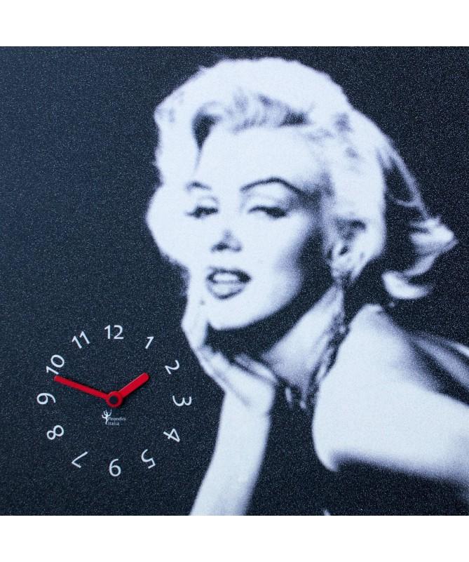 Orologio da parete Marilyn con stampa su mdf Made in Italy