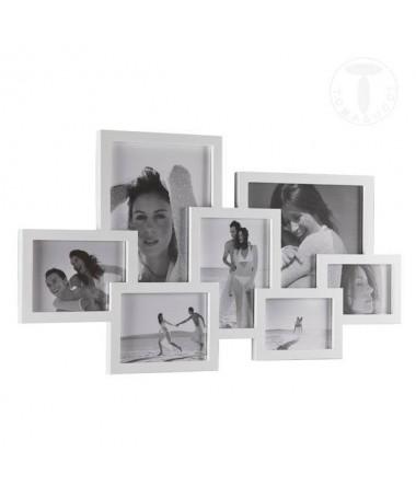 Portafoto da parete Collage per 7 foto - bianco