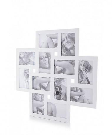 Portafoto da parete Collage per 12 foto - bianco