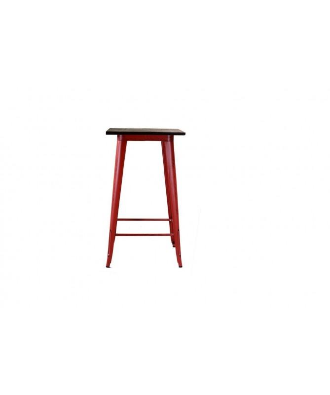 Tavolo da bar in ferro Bristol - rosso