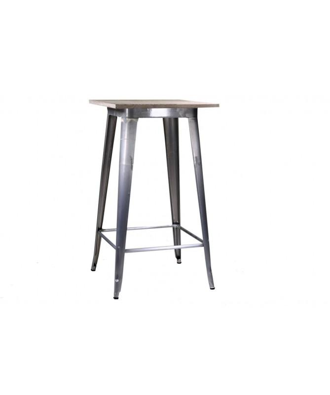 Tavolo da bar in ferro Bristol - galvanizzato