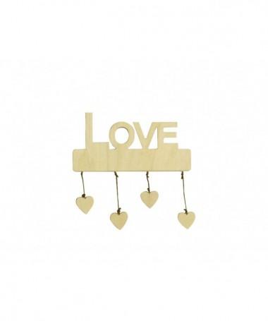 """Decorazioni """"Love"""" con cuori pendenti - 48 pezzi"""