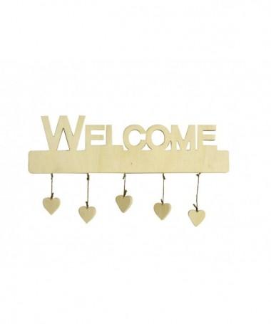 """Decorazioni """"Welcome""""con cuori pendenti - 24 pezzi"""