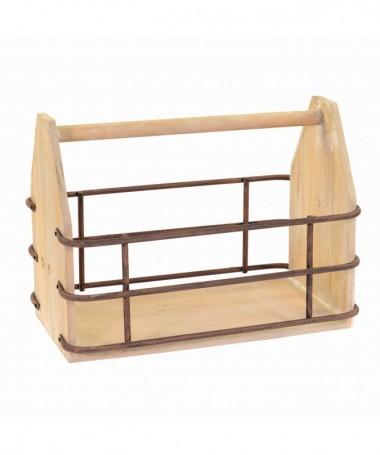 Portariviste in legno rettangolare