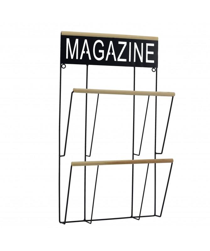 Portariviste in metallo Magazine - nero