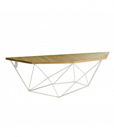 Mensola in legno e metallo - bianco