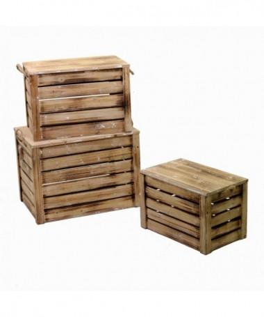 Scatola in legno - set da 3