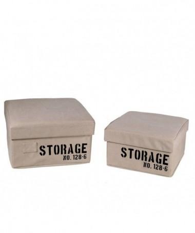 Scatola quadrata in tessuto Storage - set da 2