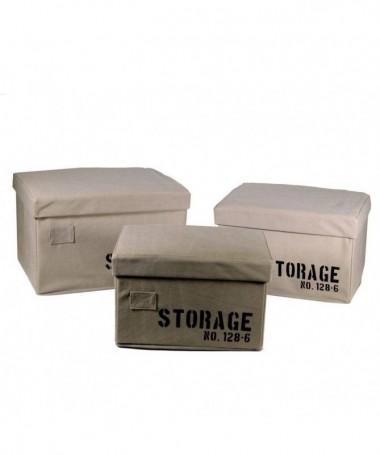 Scatola rettangolare in tessuto Storage - set da 3