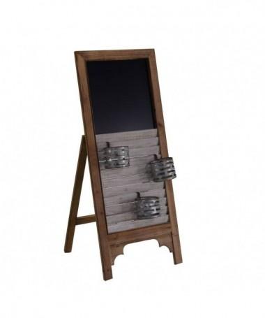 Lavagna in legno con portaoggetti