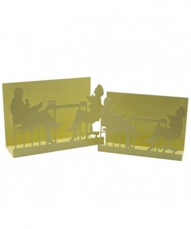 Portariviste in metallo Sagome - set da 2 crema