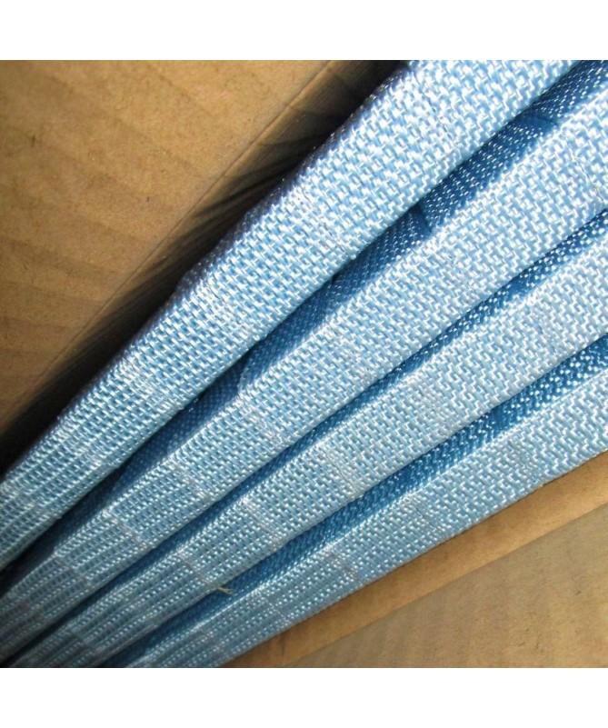 Separé paravento 4 ante in poliestere - azzurro