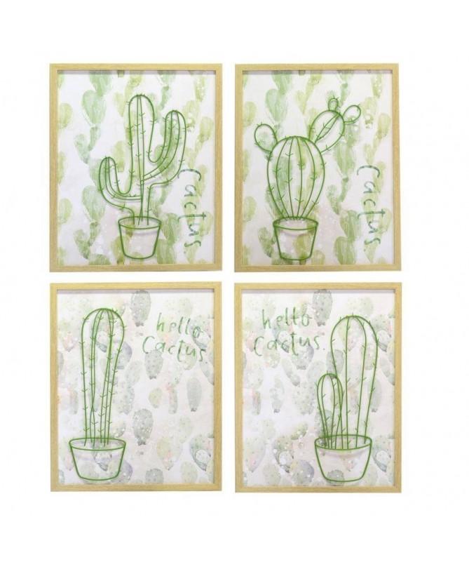 Quadri Cactus - set da 4