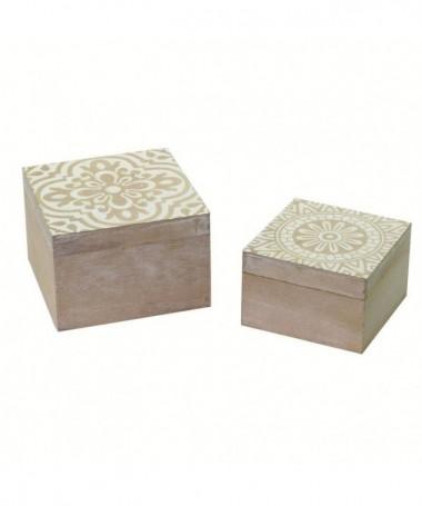 Scatola in legno Iride - set da 2