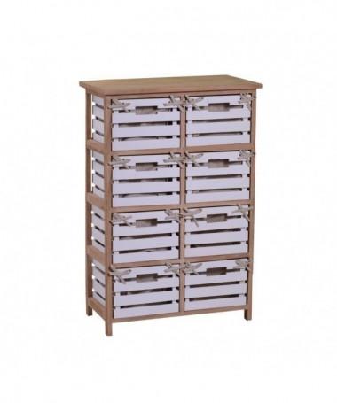 Mobiletto Arianna in legno con 8 cassetti