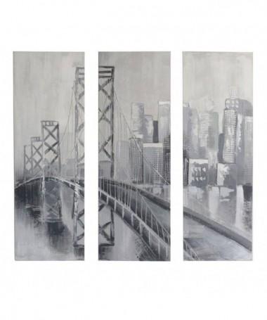 Quadro dipinto Ponte - set 3