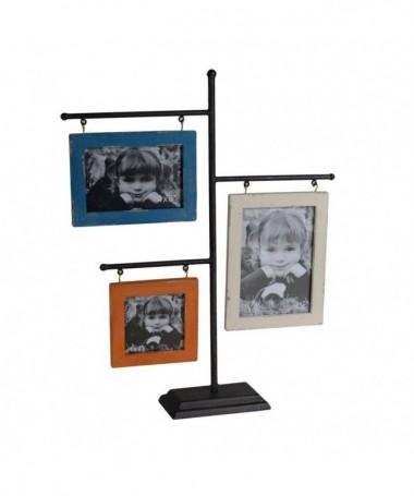 Portafoto multiplo da tavolo in legno