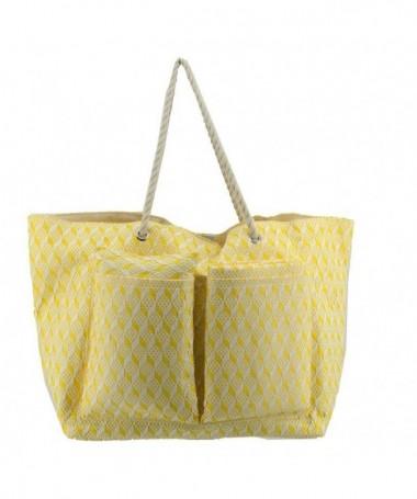 Borsa mare in tessuto - gialla