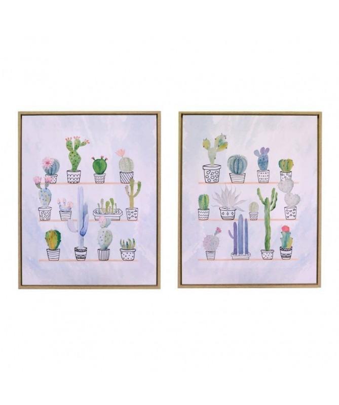 Quadri con stampa Cactus - set da 2