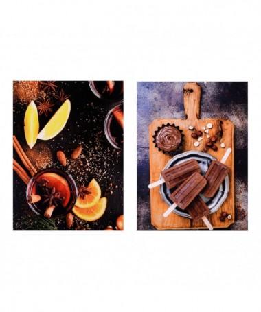 Quadro con stampa Cioccolato e Cannella - set da 2