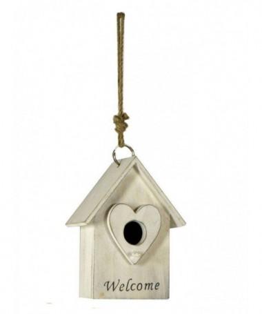 Decorazione a casetta per uccelli - set da 4