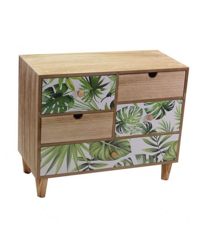 Portatutto in legno Exotic 5 cassetti