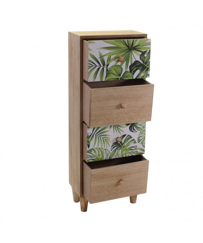 Portatutto in legno Exotic 4 cassetti