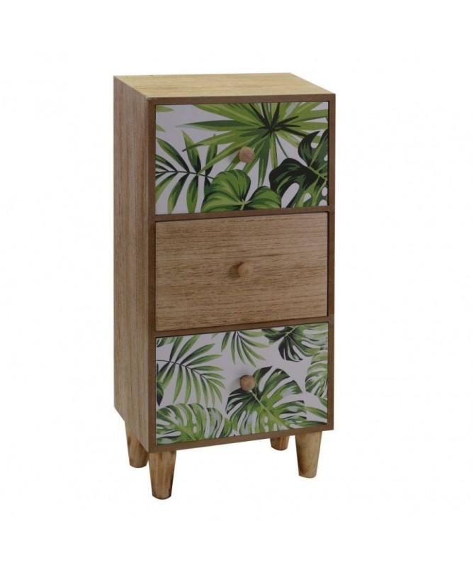 Portatutto in legno Exotic 3 cassetti