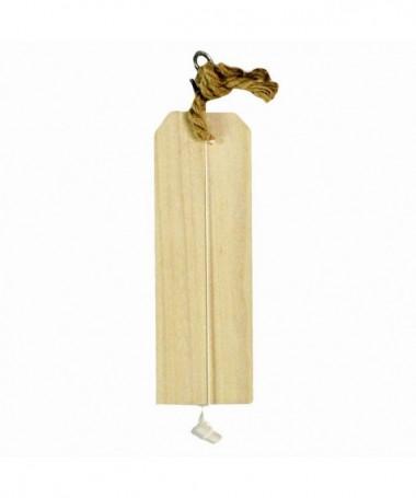 Decorazioni in legno con gesso e corda - 64 pezzi