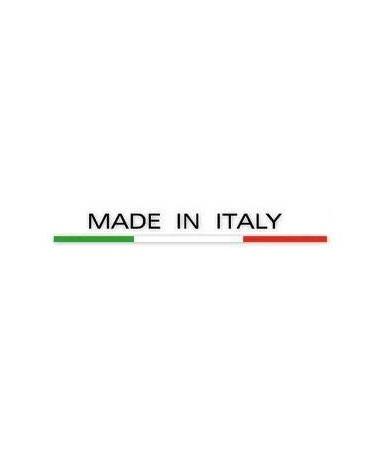 SET 4 POLTRONE RIVA IN POLIPROPILENE CON BRACCIOLI AVANA, IMPILABILI MADE IN ITALY