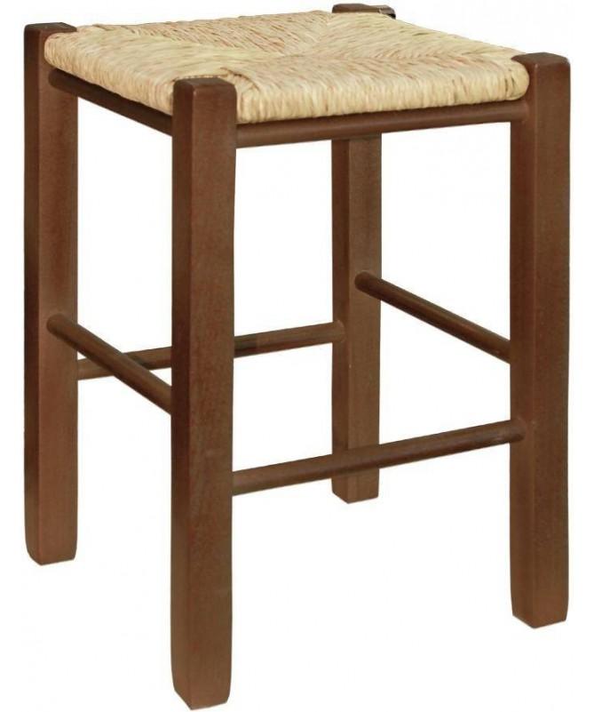 Sgabello in legno impagliato - set da 2