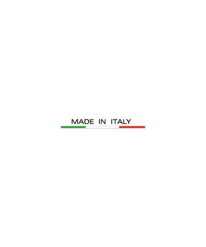 SET 2 POLTRONE PIEGHEVOLI DELTA IN POLIPROPILENE BIANCO, SEDILE E SCHIENALE IN TESSUTO SINTETICO TORTORA MADE IN ITALY