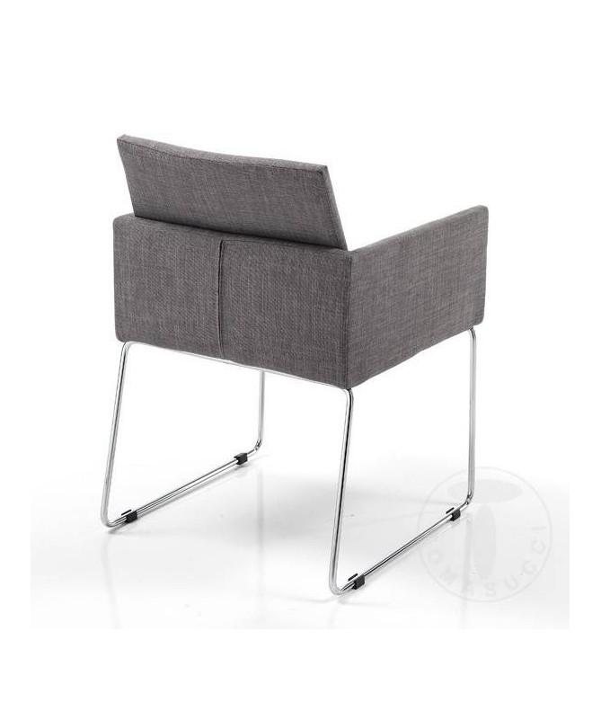 Sedia in tessuto Emma Moka - set da 2 grigio