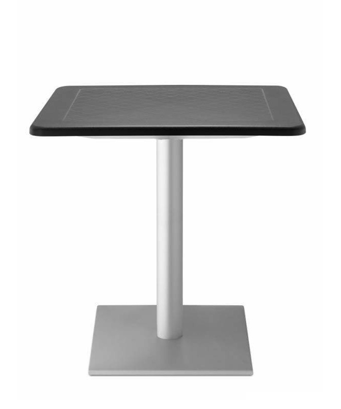 Tavolo Dodo 80 x 80 in polipropilene e alluminio anodizzato