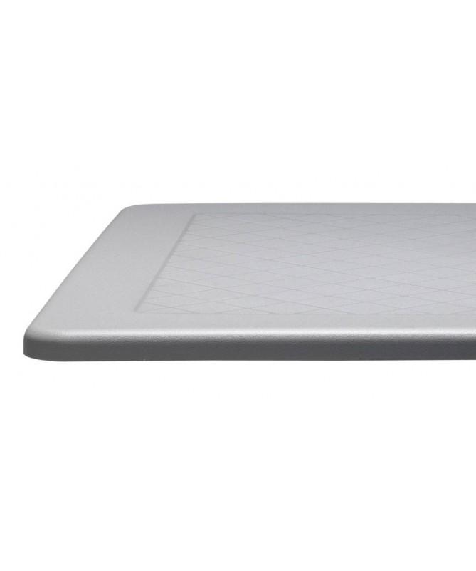 Tavolo Dodo 70x70 con piano in polipropilene e colonna in alluminio anodizzato