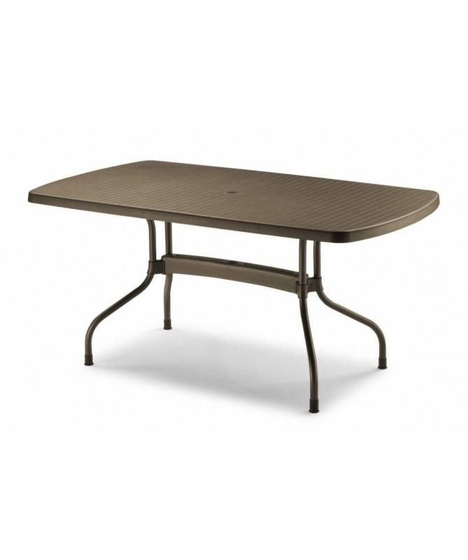 Tavolo Olimpo ribaltabile 160 x 90 in tecnopolimero intrecciato e alluminio