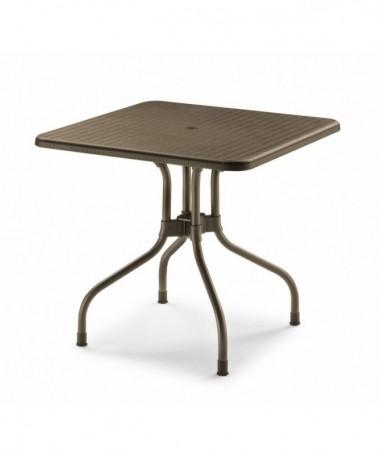 Tavolo Olimpo ribaltabile 80 x 80 in polipropilene e alluminio