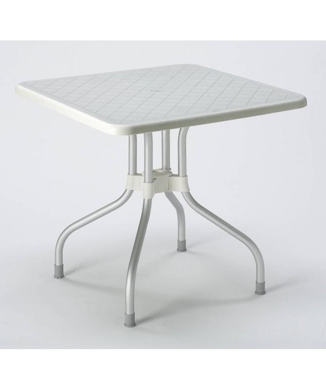 Tavolo Tibalto Top ribaltabile 80 x 80 in polipropilene e alluminio