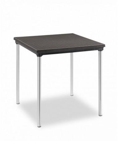 Tavolo sovrapponibile 70 x 70 in polipropilene e alluminio