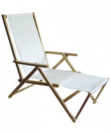 Sdraio Riviera in legno con prolunga Made in Italy - set da 2