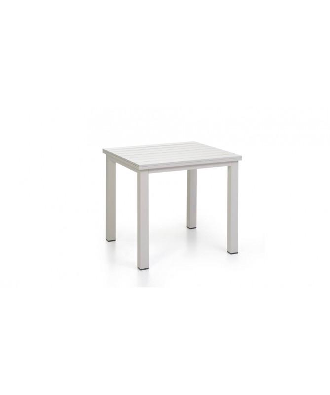 Tavolo Adila in polyrattan - bianco