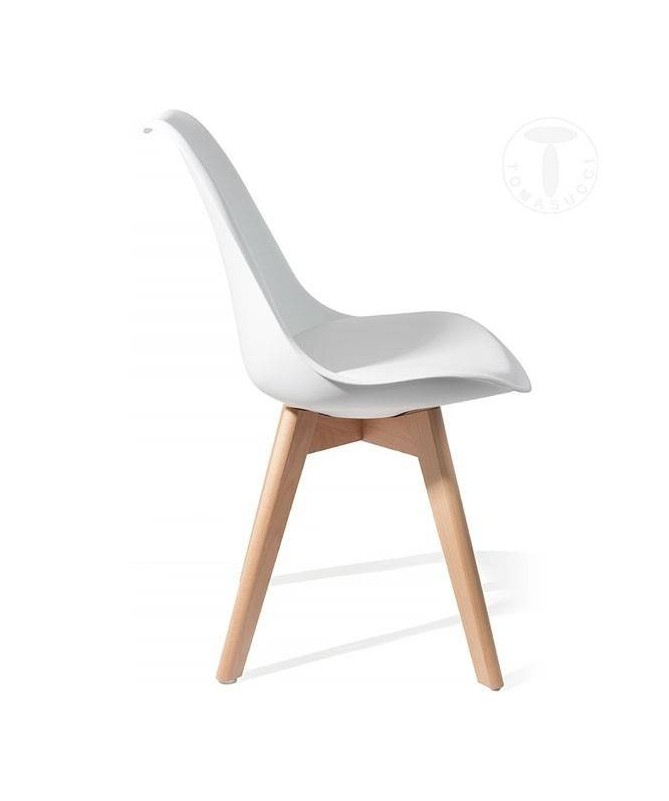 Sedia Kiki Evo Wood - set da 2 bianco