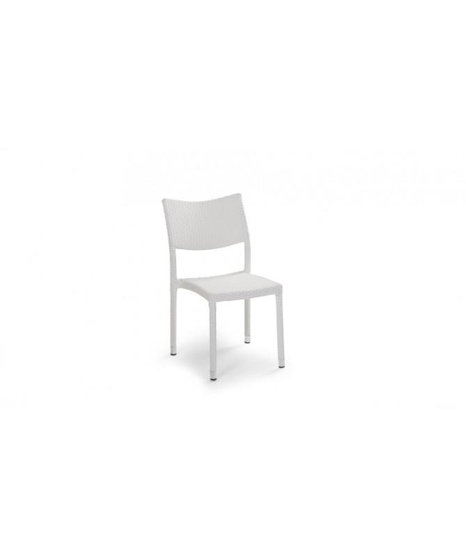 Sedie Adila in polyrattan - set da 2 bianco
