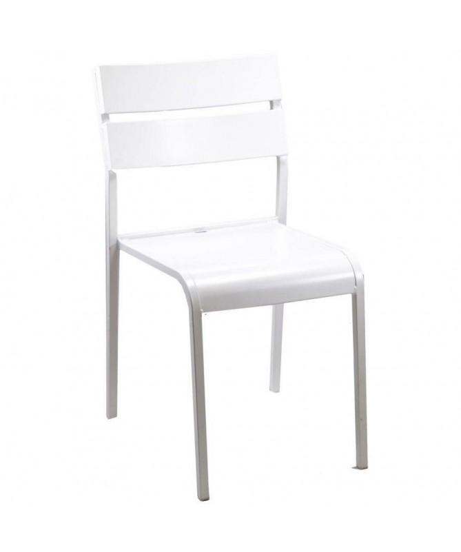 Sedie Perugia in acciaio - set da 4 bianco