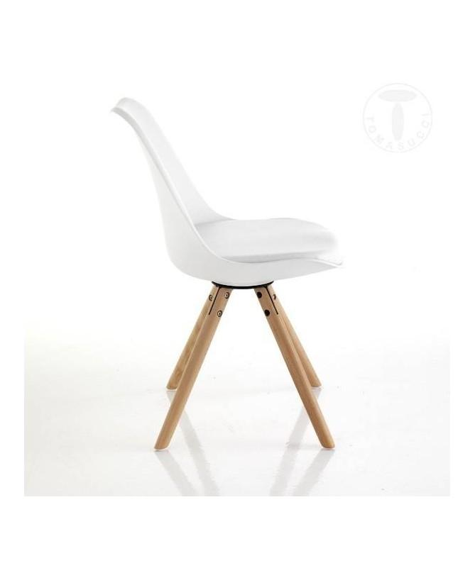 Sedia Kiki Wood - set da 2 bianco