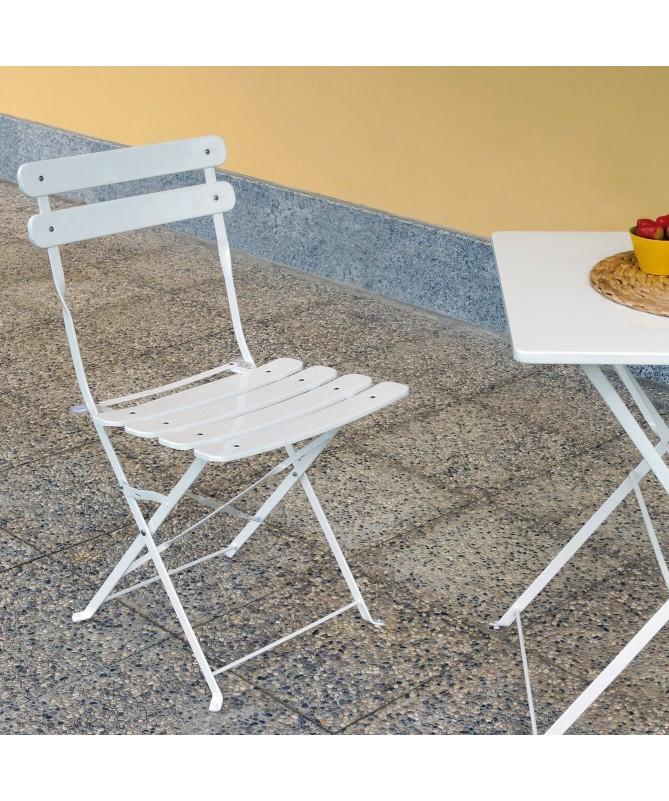 Tavolo con due sedie Bistro in ferro vari colori