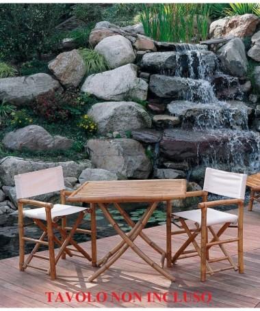 Sedia Regista in bambu - set da 2